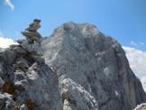 Via Normale Spiz d´Agnèr Sud - La cima con vista sul Monte Agner