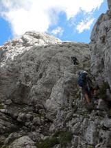 Via Normale Spiz de la Lastia - Salita canalone tra cima sud e cima nord Spiz de la Lastia