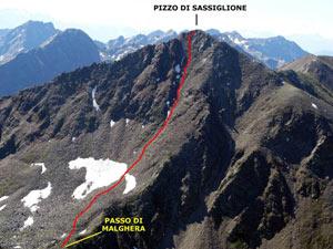 Via Normale Pizzo di Sassiglione - Versante N