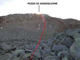 Via Normale Pizzo di Sassiglione - Versante N - L'itinerario del versante N, ripreso nelle vicinanze del Passo di Malghera