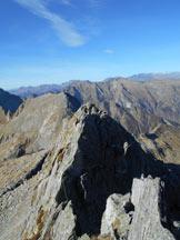 Via Normale Pizzo Ledù (cresta NW) - Lungo il tratto più impegnativo (III)