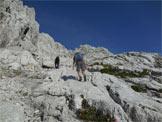Via Normale Spiz d'Agnèr Nord - Rampa rocciosa prima della Forc. Parissenti