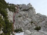 Via Normale Cima Val Finestra (Vajo di Cima Val Finestra) - Il primo e il secondo tiro