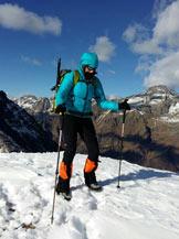 Via Normale Monte Sponda Vaga - In cima
