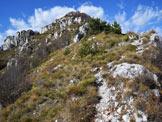Via Normale Rocchetta o Cima Giochello - Lungo la cresta di salita