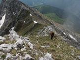 Via Normale Corna di San Fermo - Lungo la cresta di salita