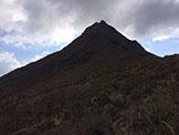 Via Normale Roque del Conde - La cresta Nord, dalla quale si discende