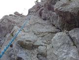 Via Normale  Bastionata Obergrubele (Spigolo degli Ignoti) - Seconda lunghezza