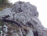 Via Normale  Bastionata Obergrubele (Spigolo degli Ignoti) - Quarta lunghezza e fine delle difficoltà