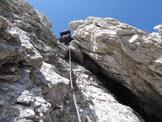 Via Normale Brenta Bassa - Tratto di arrampicata