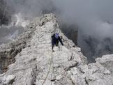 Via Normale Brenta Bassa - Ultimo tratto di cresta per la cima