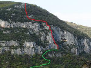 Via Normale Monte alla Croce - Via Crucis