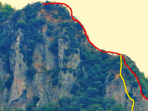 Via Normale Rocca Pendice - Via delle Creste