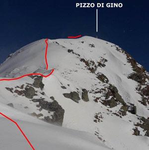 Via Normale Pizzo di Gino (invernale)