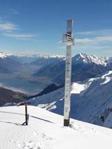Via Normale Pizzo di Gino (invernale) - Panorama di vetta sull'Alto Lario
