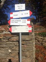 Via Normale Cima Sasso - Alpe Pra indicazioni