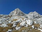 Via Normale Sass de le Càore - I due pinnacoli prima delle cima