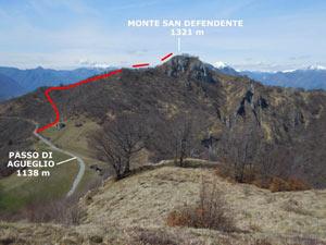 Via Normale Monte San Defendente (o Sasso di S. Defendente)