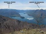Via Normale Monte San Defendente (o Sasso di S. Defendente) - Il bel panorama di vetta sul medio Lario