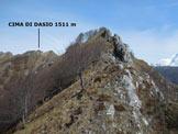 Via Normale Cima di Dasio - Pizzi di Parlasco - In salita, lungo il sentiero delle creste