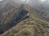 Via Normale Cima d´Agrella - Cresta N - In discesa, sulla cresta N