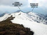 Via Normale Pizzo Cornagiera - Panorama di vetta, verso SSW