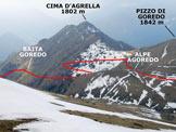 Via Normale Pizzo Cornagiera - Cresta SSW - In discesa, sulla cresta SSW