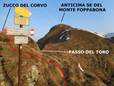 Via Normale Zucco del Corvo - Sul sentiero che aggira ad E il cocuzzolo sommitale, a 20 metri dalla cima