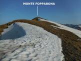Via Normale Monte Foppabona - Lungo l'elementare cresta SE del M. Foppabona