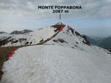 Via Normale Zuc di Cam (o Zucco di Cam) - La cresta N del Monte Foppabona, dai pressi della bocchetta omonima