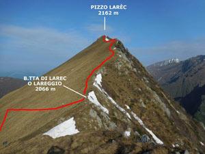 Via Normale Pizzo Larec (o Pizzo Lareggio)