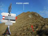 Via Normale Pizzo Larec (o Pizzo Lareggio) - Immagine ripresa alla Bocchetta di Larec o Bocchetta di Lareggio