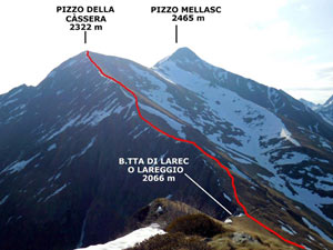 Via Normale Pizzo della Cassera (o Cima Cassera)