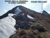Via Normale Pizzo della Cassera (o Cima Cassera) - Lungo la cresta WSW, a pochi metri dalla vetta