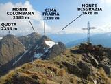 Via Normale Pizzo della Cassera (o Cima Cassera) - Panorama di vetta, verso NE