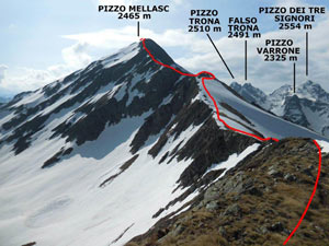 Via Normale Pizzo Mellasc - Cresta WNW