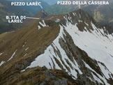 Via Normale Pizzo Mellasc - Cresta WNW - In discesa sulla cresta WNW, poco sotto la vetta