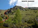 Via Normale Monte Marser - All'inizio del versante SW