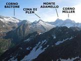 Via Normale Monte Marser - Panorama di vetta sul Gruppo dell'Adamello