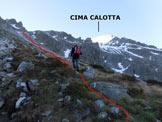 Via Normale Cima Calotta - Da Malga Caldea - In salita, lungo la Valle di Salimmo