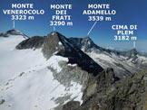 Via Normale Cima Calotta - Da Malga Caldea - Panorama di vetta, verso S