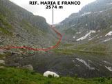 Via Normale Cima Dernal - Immagine ripresa al Lago delle Pile (q. 2187 m)