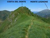 Via Normale Costa del Dente - Lungo la cresta E