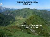 Via Normale Costa del Dente - Panorama di vetta verso W