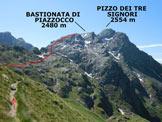 Via Normale Bastionata di Piazzocco - Immagine ripresa nei pressi della Bocchetta di Piazzocco