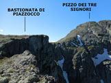 Via Normale Bastionata di Piazzocco - Tra le due cime, il ripido versante W della Bocchetta di Foppagrande