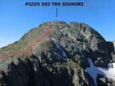 Via Normale Pizzo dei Tre Signori - dal Rif. Santa Rita - Gli ultimi 100 m di dislivello del versante N