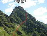 Via Normale Pizzo Alto - Da Premaniga - In salita
