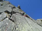 Via Normale Pizzo Spazzacaldera (cresta NE) - La fessura di L4