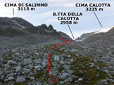 Via Normale Cima di Salimmo - Da Malga Caldea - In salita nella Valle di Salimmo